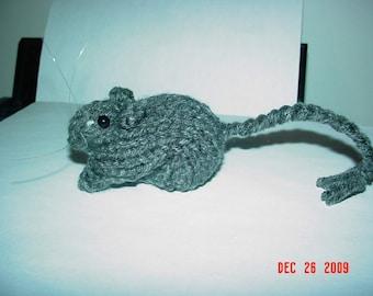Knitted Gerbil 17 Grey Agouti