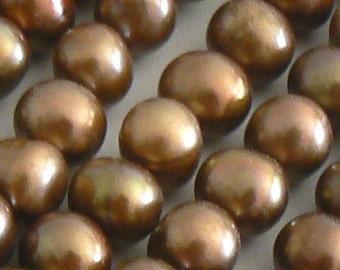 16inch 8-9mm Natural Freshwater Pearl Beads Potato Chocolate b2225