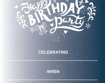 Birthday Invitation Instant download
