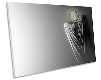 Angel Wings Halo Cloakroom CANVAS WALL ART Framed Print Picture