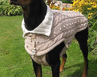 SWEATER for Dogs # LOUISIANA in heavy Cotton