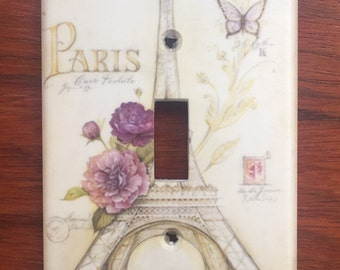 Eiffel Tower Paris France decor Light switch cover Chic // ** Same Day Shipping !!