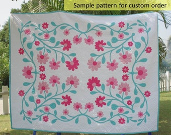 Hawaiian bedding, Home made quilts, Reverse Appliqued quilt, Aloha, Quilts bedspread, Hawaiian appliqued quilt, Hawaiian Honu Quilt, floral