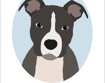 Dog Portrait Series   Pitbull