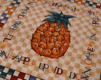 Fruit - Mumms the Word - Cotton - Destash - Debbie Mumm - Pineapple - Oranges - Cherries - Apples