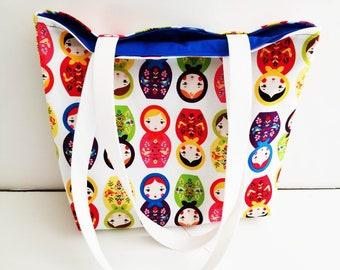 Russian Doll tote bag/Russian doll tote/tote bags/women's totes/Matryoshka doll totes/Matryoshka totes/Russian tote bag/nesting dolls tote