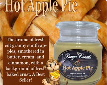 Hot Apple Pie Scented Jar Candle (16 oz.)!Free Shipping