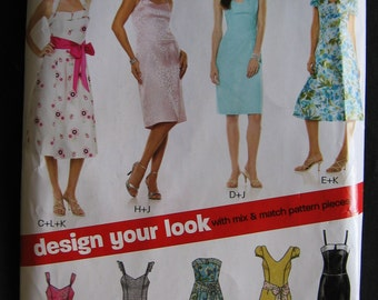 New Look by Simplicity Evening Dress Sewing Pattern 6773 Summer Size 6 8 10 12 14 16 Uncut UC FF