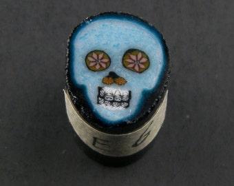 Bleu Skull par Greg Chase Murrine Boro canne 6 grammes - 144 E