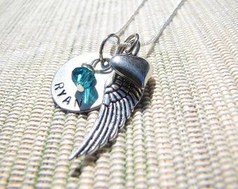 Rememberance Hand Stamped Necklace