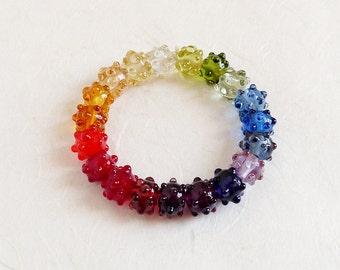 Lampwork Beads Rainbow multicolor
