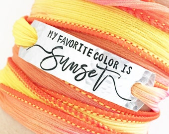 My favorite Color Is Sunset, Sunset Jewelry, Sunset Lover, Summer Style, Sun Jewelry, Beach Boho Jewelry, Beach Style, Wrap Bracelet