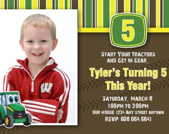Tractor Birthday Invite