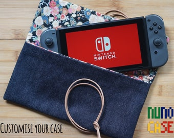 Raw Denim & Leather Nintendo Switch Case