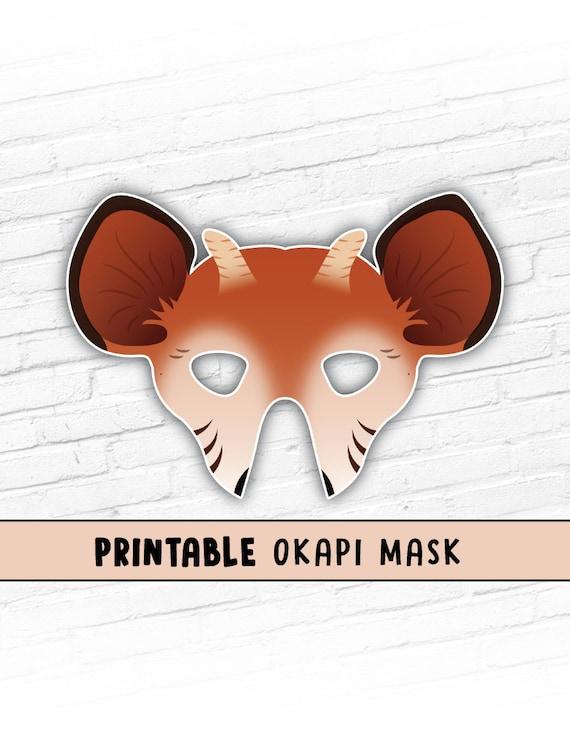 Okapi Printable Mask African Animal Mask Printable Animal