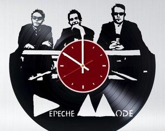 Depeche Mode vinyl wall clock Rock band wall clock Depeche Mode gift Depeche Mode wall decor Depeche Mode art Rock band wall clock