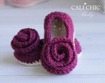 Crochet PATTERN 324 - Charlotte Baby Shoes pattern - Crochet baby shoes pattern - Instant Download PDF Pattern