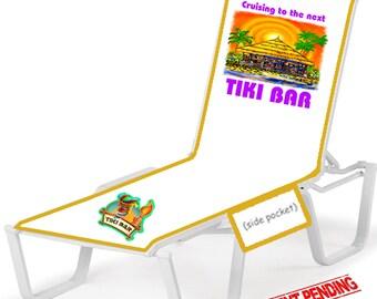 Cruise ship Lounge Chair Cover -  Tiki Bar