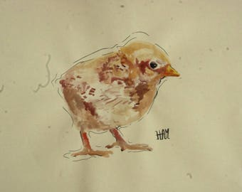 Chick drawing ink