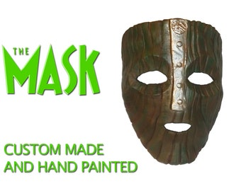 Loki's Mask - Jim Carrey's The Mask film - prop replica