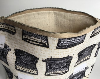 Typewriter Zippered Pouch