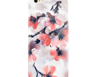 Watercolor Phone Case, Floral iPhone 8 Case, iPhone 8Plus Case, iPhone 7 Case Samsung Galaxy S8 Case Samsung Galaxy S7 Case