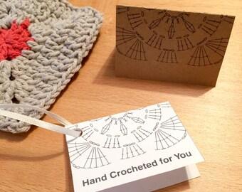 Fold-Over Gift Tags for Hand Crochet, Printable