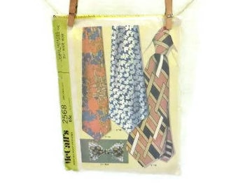 Man's Retro Necktie McCall's Sewing Pattern | Wide Neckties And Bow Tie Pattern