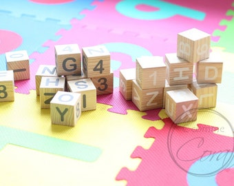 Alphabet and number 20 cubes
