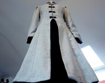 Brandenburg/ Victorian/ Classical/ Historical/ Royal/ Gothic/ Vampire  Woman coat / Spring/ Autumn Wool