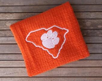 Embroidered Clemson Towel, Kitchen Towel, Clemson Tigers decor, Kitchen Decor, Tiger Decor, South Carolina