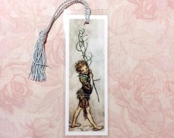 Fairy Bookmark - Puck from Midsummer Night's Dream - Arthur Rackham - Stocking Stuffer