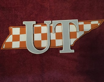 hand painted tennessee vols sign