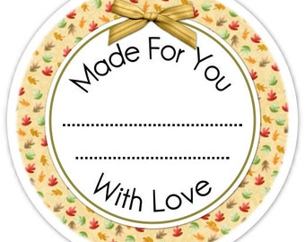 Kitchen or Canning Labels, Made For You Stickers - Personalized Labels, From the Kitchen