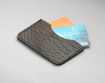 Black credit card holder-Credit card wallet Women's credit card holder Black leather card holder Black wallet Black leather Slim wallet