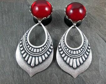 "Dangle Plugs - 5/8"" 16mm - Gothic Plugs - Tribal Plugs - Dangle Gauges - Plug Earrings - Wedding Gauges - Gothic Wedding - Bridal Plugs"