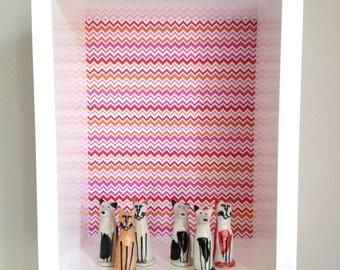 REDUCED - Shadow Box - Girls Shadow Box, Wall Display Box, Wall Shelf, Display Box, Modern Shadow Box,  Contemporary Shadow Box
