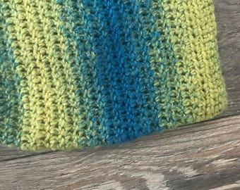Teal/green ombre cowl