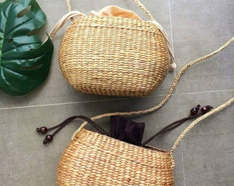 PRE-ORDER Small Cross body Straw Bag / straw handbag / Summer Hand bag / straw tote / straw purse / seagrass bag / wicker bag