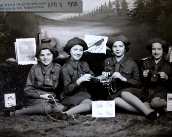 Girl Guides of Canada. Vintage Photos Scouts, Camp Ponemah, Troop Photo. At Least 80 Pics. One Canadian Woman's Treasured Photos. 1930s-50s