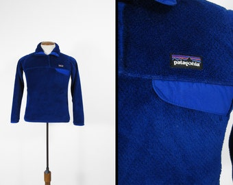 Patagonia Women's Re-Tool Snap-T Fleece Pullover Blue - Size XS