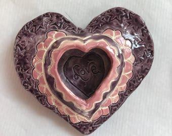 Heart-Pink & Purple Heart