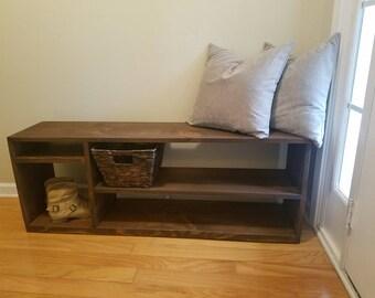 Handmade Organizer Storage Bench