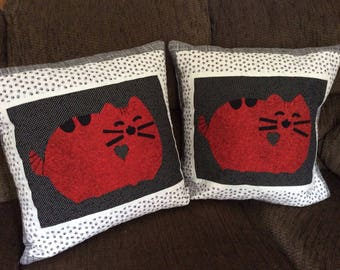 Quilted Pusheen Cat Pillow Cover