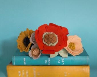 Felt Flower Crown - Orange/Yellow