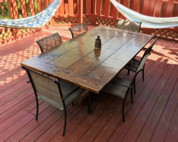 rustic farm house indoor outdoor dining table. Black Bedroom Furniture Sets. Home Design Ideas
