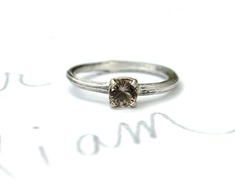 twig engagement ring . alternative engagement ring . blush tourmaline engagement ring . unique engagement ring . ready to ship size 6.5