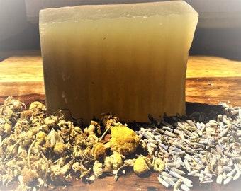Bentonite Clay Soap.Lavender Soap.Chamomile Soap.Calendula Soap.Natural Soap.Gentle Face Soap.Sensitive Skin Soap.Detoxifying Soap.Cleanser