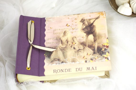 Album photo style Marie Antoinette XVIII shabby chic pink purple photos souvenirs mothers' Day