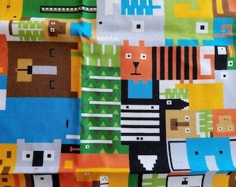 In Plain Sight Andover Novelty Fabric, Hide and Seek Zoo, One Piece, Fat Quarter Sized